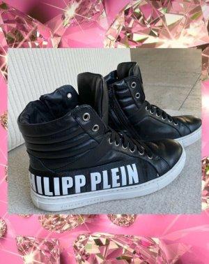 Philipp Plein Instapsneakers zwart-wit Leer