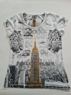 Philipp Plein Shirt Gr.M weiß Strasssteine sehr auffallend wie neu selten getragen