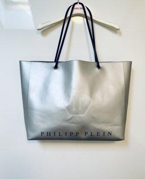 Philipp Plein Borsa shopper argento-nero Pelle