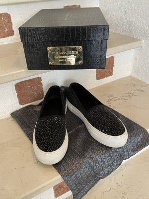 Philipp Plein Basket slip-on noir cuir