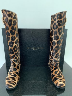 Philipp Plein Fur Boots multicolored leather