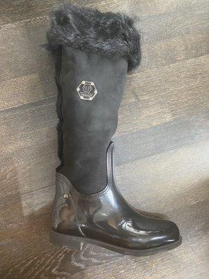 Philipp Plein Futrzane buty czarny