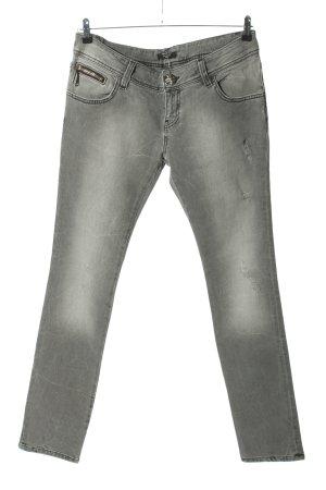 Philipp Plein Straight-Leg Jeans hellgrau Casual-Look