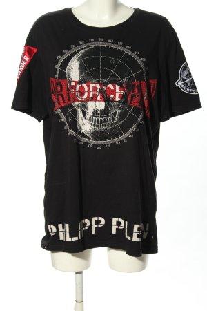 Philipp Plein T-Shirt black-red themed print casual look