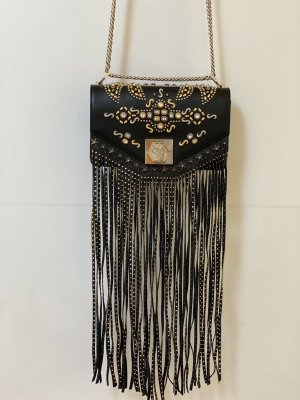 Philipp Plein Fringed Bag black-silver-colored leather