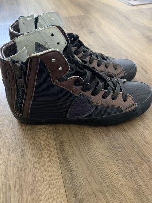 Philippe Model Sneaker con tacco nero-bronzo