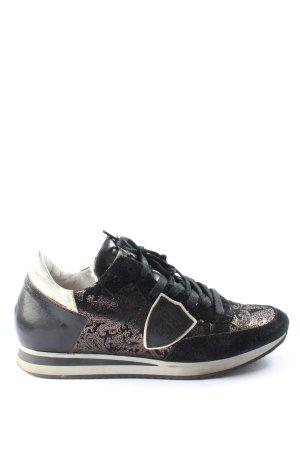 Philippe Model Schnürsneaker schwarz abstraktes Muster sportlicher Stil