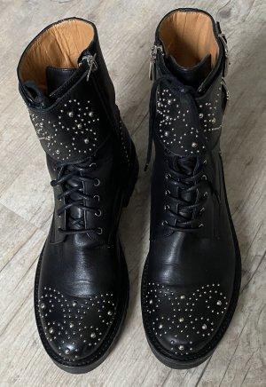 Phillip Hardy Paris Booties black leather