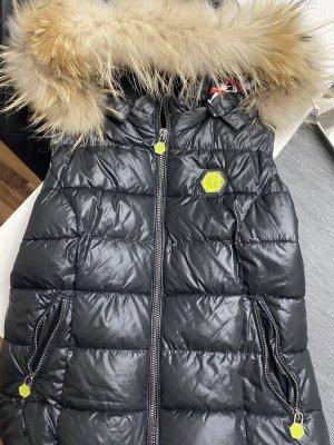 Phillip Plein Hooded Vest black-neon yellow
