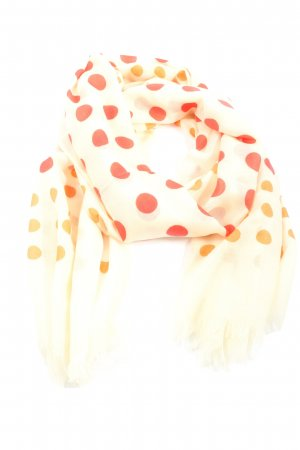 philo-sofie Woolen Scarf cream-red spot pattern casual look