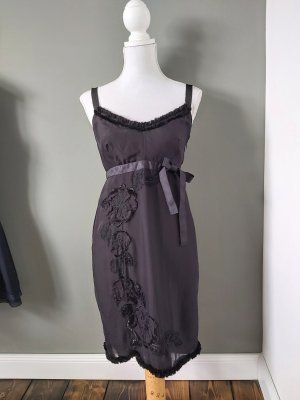 Philosophy Di Alberta Ferretti Shortsleeve Dress black silk