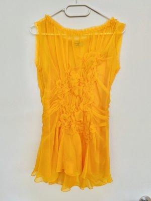 Philosophy Di Alberta Ferretti Sommerbluse 100% Seide leuchtend Gelb