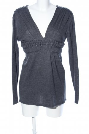 Philosophy Di Alberta Ferretti Wool Sweater light grey flecked casual look