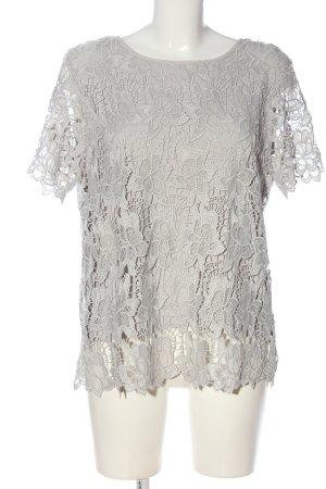 PHILOSOPHY Blusa in merletto grigio chiaro stile casual