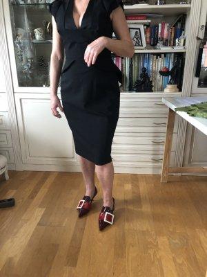Philosphischer di Lorenzo Serafini Kleid Schwarz Cocktailkleid Elegantko