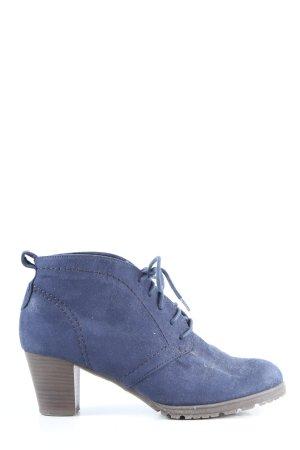 Pia Corsini Bottines à lacets bleu style décontracté