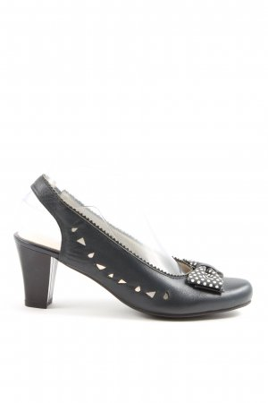 pia fashion Slingback pumps zwart casual uitstraling