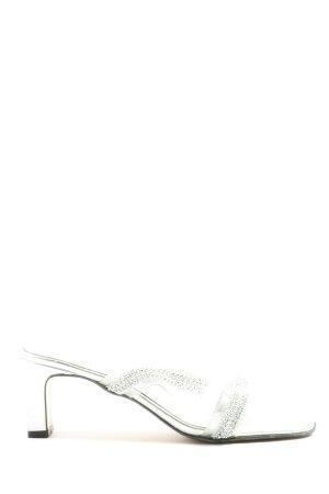 Pia Jarrett Heel Pantolettes silver-colored casual look