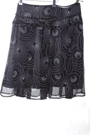 Pia Jessen Plaid Skirt black-white allover print casual look