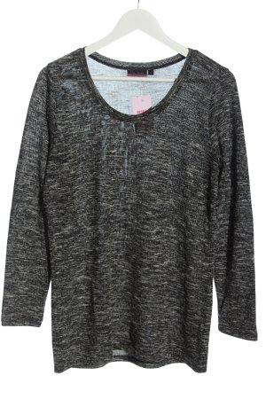 Pia Jessen T-shirts en mailles tricotées noir-gris clair moucheté