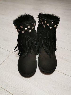 Pia Tozzi Botines de invierno negro