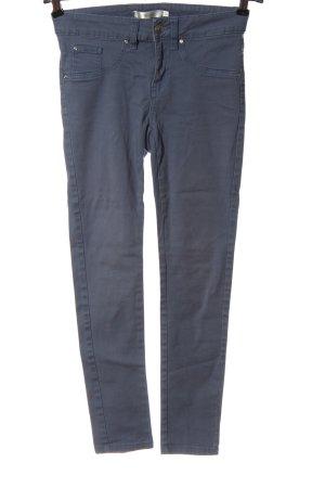 PIAZA ITALIA Pantalon cigarette bleu style décontracté