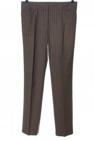 Piazza Sempione Suit Trouser brown striped pattern business style