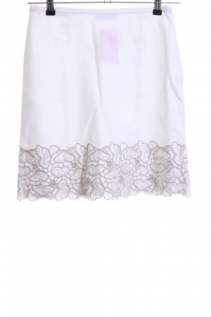 Piazza Sempione Pencil Skirt white abstract pattern casual look