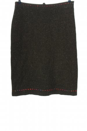 Piazza Sempione Pencil Skirt khaki flecked casual look