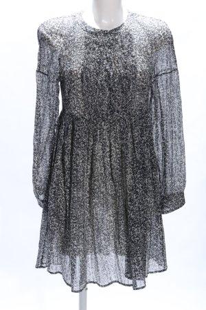 Piazza Sempione Blusenkleid schwarz-wollweiß Allover-Druck Casual-Look