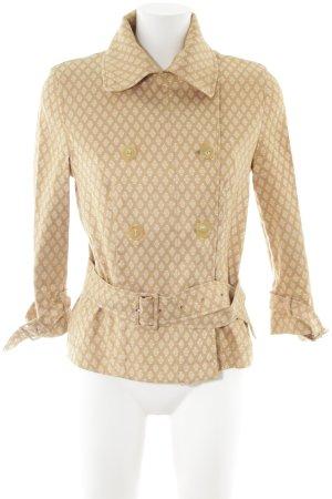 Piazza Sempione Pea Jacket nude-cream allover print casual look