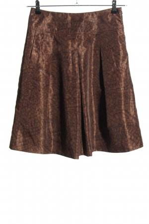 Piazza Sempione Plaid Skirt brown allover print casual look
