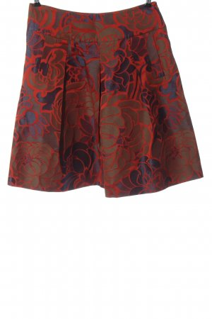 Piazza Sempione Flared Skirt black-red allover print casual look