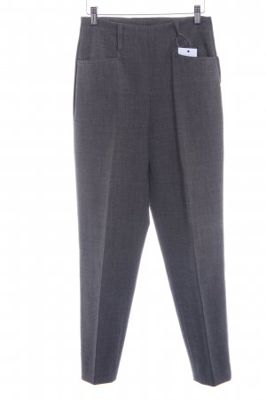 Piazza Sempione High-Waist Hose dunkelgrau meliert Business-Look