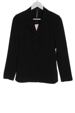 Piazza Sempione Korte blazer zwart casual uitstraling