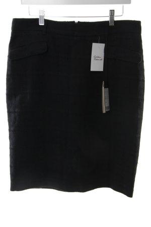 Piazza Sempione Skirt black weave pattern classic style