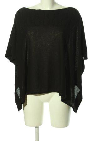 Piazza Sempione Schlupf-Bluse schwarz Casual-Look