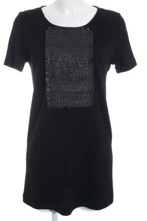 Piazza Sempione Shirtkleid schwarz-dunkelgrau Applikation