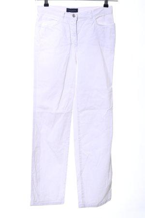 Piazza Sempione Slim Jeans weiß Casual-Look