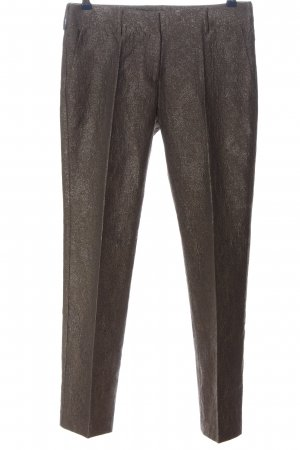 Piazza Sempione Jersey Pants brown flecked casual look