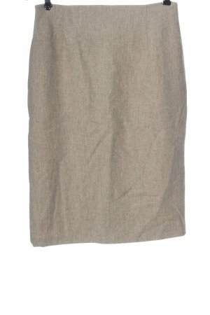 Piazza Sempione Wool Skirt natural white flecked business style