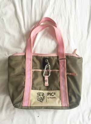 Picard Tasche / Shopper in khaki und rosa