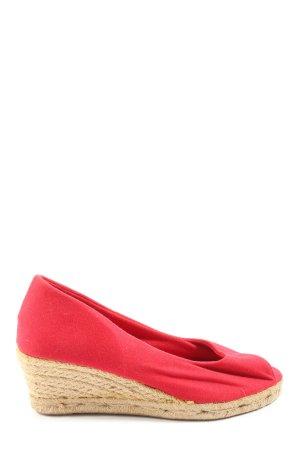 PicNic Sandały klinowe na obcasie czerwony-kremowy W stylu casual
