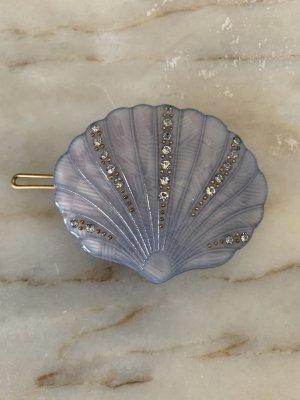 Hair Clip cornflower blue-silver-colored