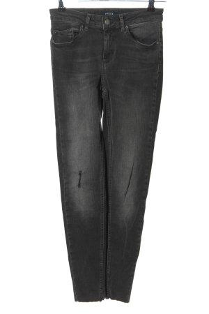 Pieces 7/8 Jeans hellgrau Casual-Look