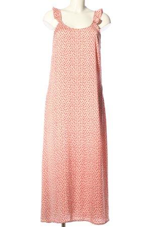 Pieces Abito linea A color carne-rosa stampa integrale stile casual