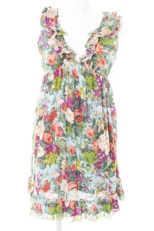 Pieces A-Linien Kleid Allover-Druck Casual-Look