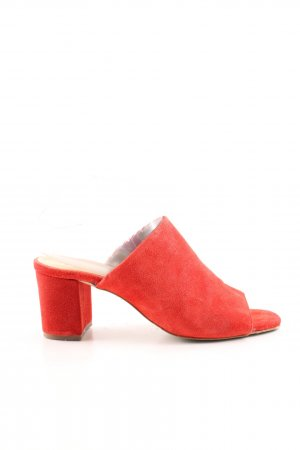 Pieces Heel Pantolettes bright red casual look