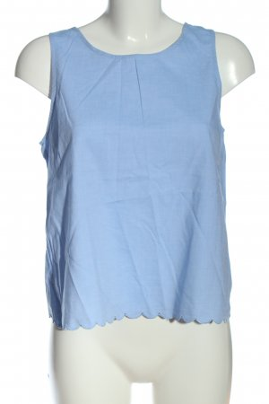 Pieces Sleeveless Blouse blue casual look