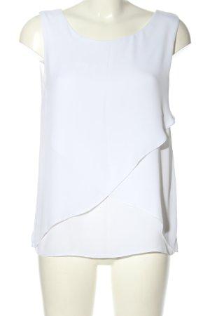 Pieces ärmellose Bluse weiß Casual-Look